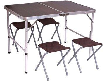 MCW Campingtisch »H368« (Set, 5-er Set), Ideal geeignet für Outdoor-Aktivitäten, Glatte Oberfläche, Leichtes Gewicht