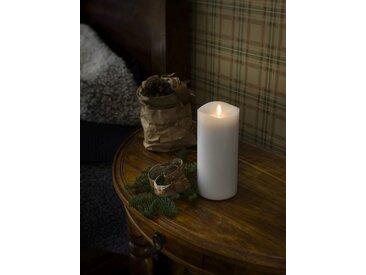 KONSTSMIDE LED Duftkerze, flackernd, weiß, Höhe 18cm, Lichtquelle warm-weiß, Weiß
