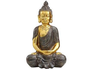 Dehner Dekoobjekt »Buddhafigur, 52.5 x 22.5 x 32 cm, Polyresin, gold«