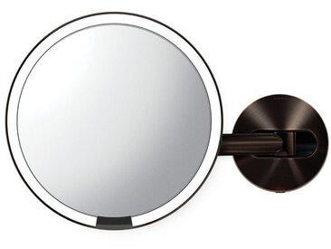 simplehuman Spiegel »20cm Sensorspiegel mit Wandaufbau verdrahtet«, braun, braun