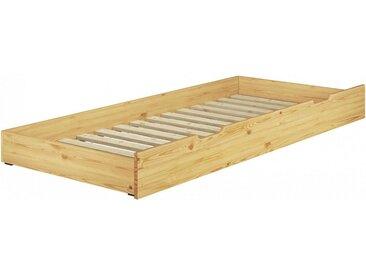 ERST-HOLZ Unterbettkommode, 90.10-S17 - Gästebettkasten Kiefer naturLiegefläche 80x180 cm-Rollrost