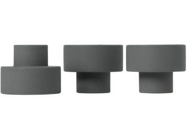 BLOMUS Kerzenhalter »TRIO Set 3 Kerzen- und Teelichthalter gunmetal«