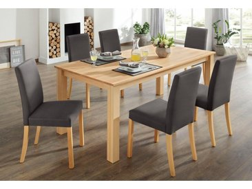 Home affaire Essgruppe, (Set, 7-tlg), braun, braun