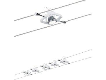 Paulmann LED Deckenleuchte »Seilsystem Mac II Weiß mit 5 Spots max. 10W GU5,3«, Seilsystem, 5-flammig