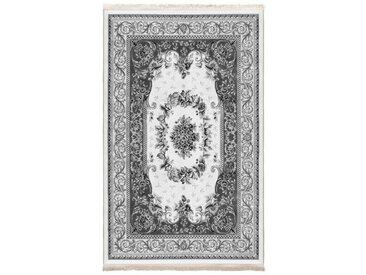 Siela Teppich »1701_grau«, quadratisch, Höhe 5 mm, Waschbar in der Waschmaschine Modern Wohnzimmer Deko Rutschfest Grau