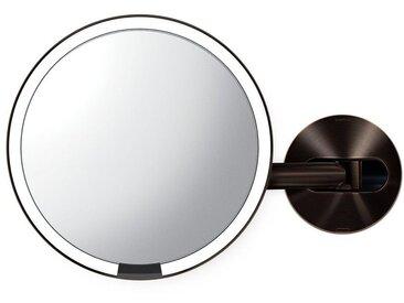 simplehuman Spiegel »20cm Sensorspiegel mit Wandaufbau wiederaufladbar«, braun, braun