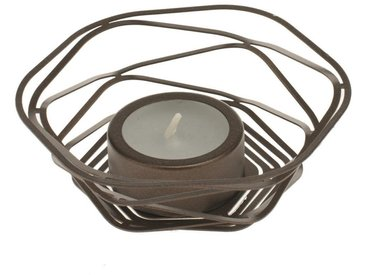 Glorex Teelichthalter »Alu-Flex«, Ø 9,5 cm, braun, Matt-Bronze