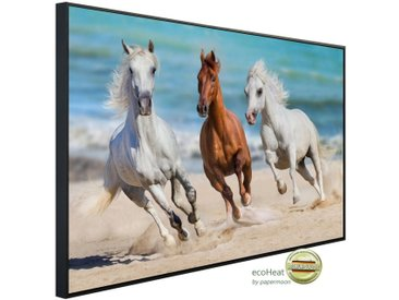 Papermoon PAPERMOON Infrarotheizung »EcoHeat - Pferde im Galopp«, Aluminium, 1200 W, 100 x 115 cm, mit Rahmen, bunt, bunt