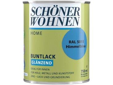 SCHÖNER WOHNEN-Kollektion SCHÖNER WOHNEN FARBE Lack »Home Buntlack«, glänzend, 750 ml, himmelblau RAL 5015, blau, blau