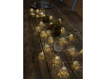 KONSTSMIDE LED Dekolichterkette, Metallbälle, goldfarben, Lichtquelle warm-weiß, Gold