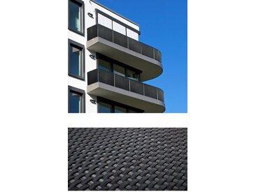 dynamic24 Balkonsichtschutz Polyrattan PVC Sichtschutzmatte 300x90 Balkon Sichtschutz Zaun Windschutz, grau, Anthrazit
