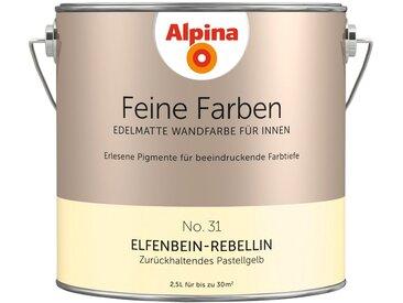 Alpina ALPINA Farbe » Feine Farben Elfenbein-Rebellin«, 2,5 l, gelb, Zurückhaltendes Pastellgelb