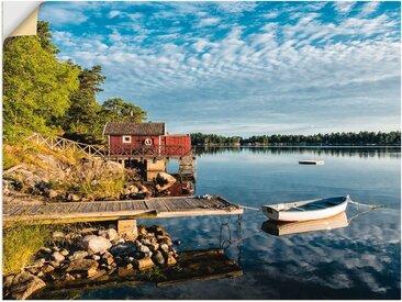Artland Wandbild »Schärengarten schwedischen Küste II«, Küste (1 Stück), in vielen Größen & Produktarten -Leinwandbild, Poster