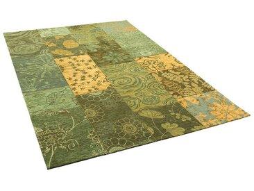 Pergamon Designteppich »Luxus Vintage Designerteppich Patchwork Grün«, Rechteckig, Höhe 5 mm