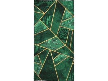 Juniqe Handtuch »Deep Emerald« (1-St), Weiche Frottee-Veloursqualität