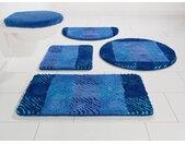 my home Badematte »VENJA« , Höhe 20 mm, fußbodenheizungsgeeignet, rutschhemmender Rücken, blau
