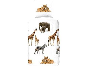 good morning Kinderbettwäsche »Young & Wild«, mit wilden Tieren