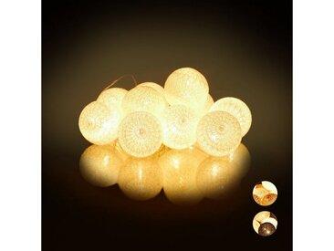 relaxdays LED-Lichterkette »LED Lichterkette mit 10 Kugeln«, Weiß