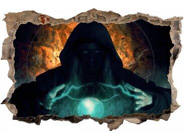DesFoli Wandtattoo »Magier Zauber Leuchtkugel D2532«