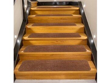 COSTWAY Stufenmatte »15er Set Stufenmatten Treppenteppich Stufenteppich«, Selbstklebend, für Treppen, 76x20cm, rutschfest für Kinder, Senioren & Hunde