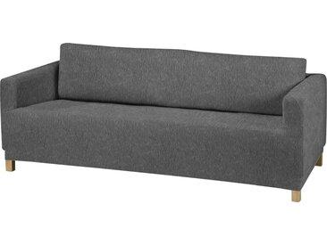 Dohle&Menk Sofahusse »Teide«, monoelastische Stretchware mit hohem Baumwollanteil, grau, 3-Sitzer, grau