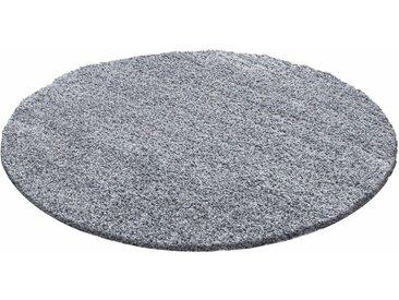 Ayyildiz Hochflor-Teppich »Life Shaggy 1500«, rund, Höhe 30 mm, grau, hellgrau