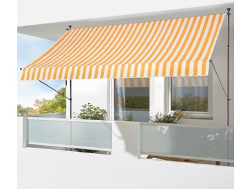 KONIFERA Klemmmarkise »350x150 cm« Breite/Ausfall: 350/150 cm, gelb, gelb-weiß