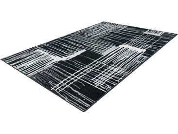 LALEE Teppich »Bravo 302«, rechteckig, Höhe 12 mm, Kurzflor, silberfarben, grafit