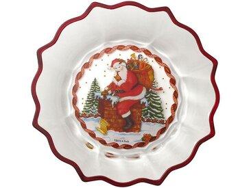 Villeroy & Boch Schale Santa auf Dach »Christmas Glass Accessories«, weiß, 250,00 mm, klar,bunt