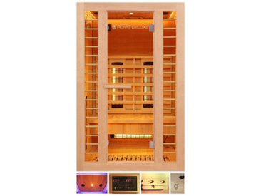 HOME DELUXE Infrarotkabine »Redsun M Deluxe Plus«, 120x105x190 cm, natur, natur