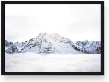 POSTORO Bild »Above The Clouds«, Schwarzer Holzrahmen, DIN A2