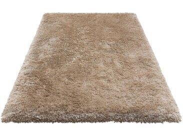 Leonique Hochflor-Teppich »Lasse«, rechteckig, Höhe 76 mm, Besonders weich durch Microfaser, natur, sand