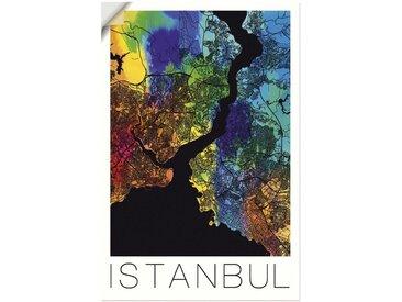 Artland Wandbild »Retro Karte Istanbul«, Landkarten (1 Stück), Wandaufkleber - Vinyl