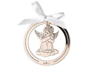 Rosenthal Christbaumschmuck »Silver Collection Angels Rose Gold Engel Anhänger rund« (1-tlg), Engel sitzend