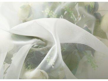 Woltu Gardine, Vorhänge & Gardine transparent mit Ösen,1 Stück, natur, creme
