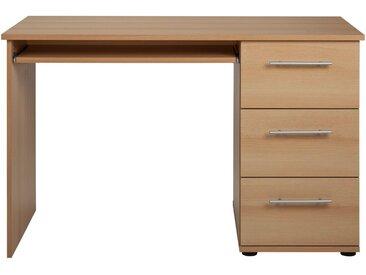Schreibtisch »Tobi«, mit 3 Schubkästen, natur, buchefarben