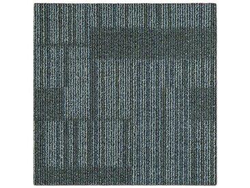 casa pura Teppichfliese »Linz«, Quadratisch, Höhe 6 mm, Selbstliegend, Gemustert, grau, Beige-Grau 06
