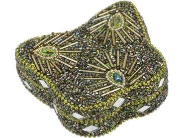 Guru-Shop Aufbewahrungsdose »Kleines Schmuckdöschen mit Perlen,..«, gelb, lemon