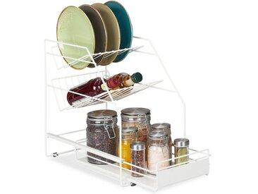 relaxdays Küchenregal »Küchenschrank Organizer Weiß«