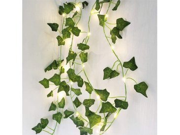 TOPMELON Lichterkette »LED Lichterkette«, 20-flammig, 2M,20LED,2er Pack, grün, 2 St., Efeublatt