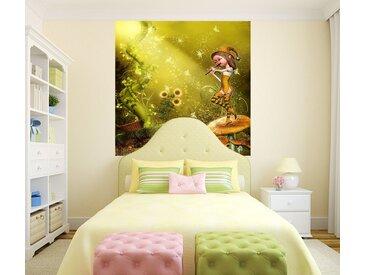 Bilderdepot24 Deco-Panel, selbstklebende Fototapete - Kinderbild - Elfe mit Flöte, bunt, Farbig