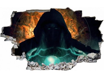 DesFoli Wandtattoo »Magier Zauber Leuchtkugel C2532«