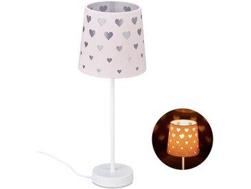 relaxdays Nachttischlampe »Nachttischlampe Kinder mit Herzen«