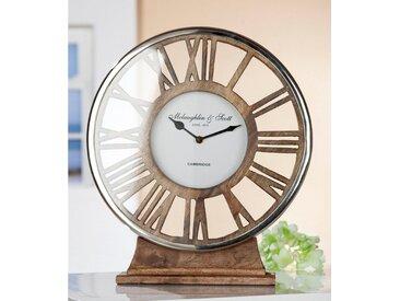 GILDE Standuhr »Uhr Negro« (1-St), rund, römische Ziffern