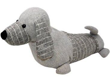 Lashuma Türstopper »Hund«, Türpuffer Bodenstopper schwer gefüllt, grau, Grau