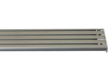 GARESA Gardinenschiene »Flächenvorhangschiene 2 - 5 lauf, spezial«, 4-läufig, Wunschmaßlänge, grau, aluminiumfarben