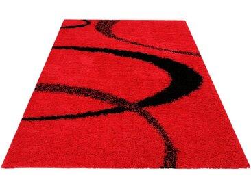 my home Hochflor-Teppich »Ankara«, rechteckig, Höhe 52 mm, weicher Flor, rot, rot