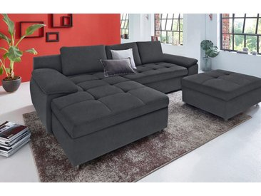sit&more Ecksofa »Labene«, grau, XL-mit Bettfunktion-mit Bettkasten-ohne Federkern, dunkelgrau