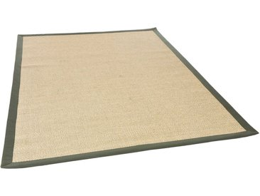 THEKO Sisalteppich »Sisalo«, rechteckig, Höhe 8 mm, Obermaterial: 100% Sisal, Wohnzimmer, natur, natur-grün