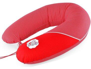 SEI Design Stillkissen »Maus rot«, mit hochwertiger Stickerei mit niedlichen Tiermotiven